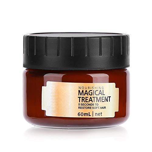 Masque de Traitement Magique - 60 ml Masque de Cheveux Magique Traitement Nourrissant Doux Réparation Lisse Dégâts Professionnel