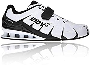Inov-8 Men's Fastlift 360 – Weight Lifting & Powerlifting Shoes - Men's Squat Shoes - White/Black - 12.5
