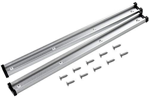 Inntek 2pcs 400mm T-Slot in Lega di Alluminio T-Track con 10 Viti Autofilettanti, per la Lavorazione del Legno per Router Table Saw per Falegname