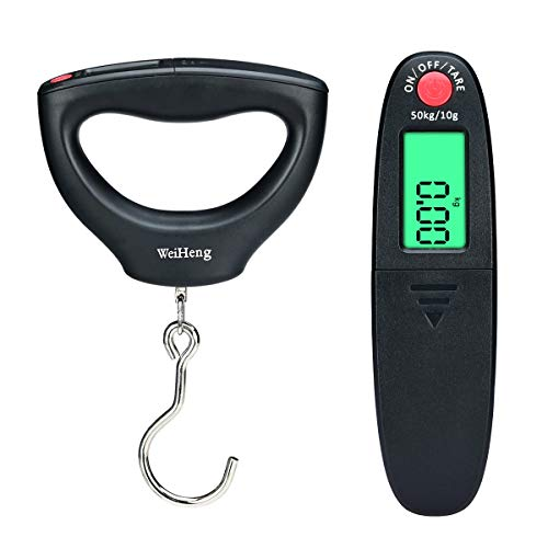 Songway Portable Digital Luggage Scale, Fishing Scale, Electronic Suitcase Hanging Weighing Scale 110lb/50KG with Backlit LCD Display
