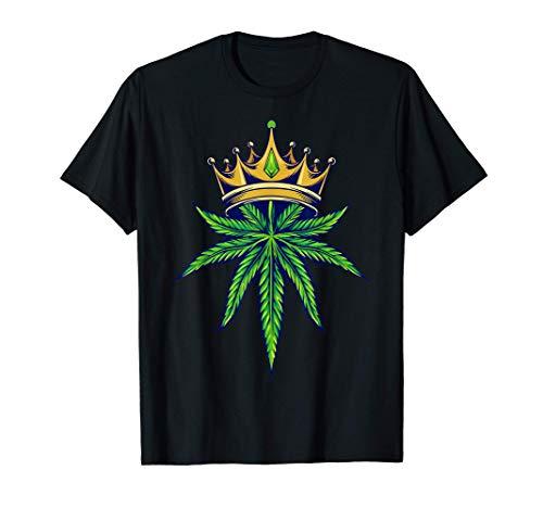 Weed Gras Unkraut Marihuana Cannabis 420 THC Pott Blatt T-Shirt