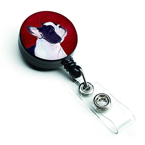 Caroline's Treasures SS6037BR French Bulldog Retractable Badge Reel or ID Holder with Clip, Belt Clip, Multicolor
