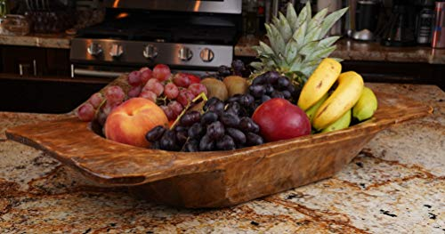 Food Safe Eurostyle Deep Rustic Wooden Dough Bowl-Batea