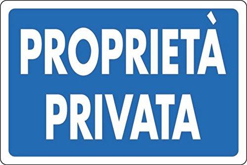 Cartello in alluminio bianco cm 30X20 Proprietà privata