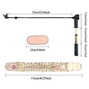 Ceinture dorsale de décompression physique par GINEKOO - Ceinture de traction à air spinal pour le soulagement de la douleur dans le bas du dos, le soutien du dos et la ceinture de traction lombaire (taille de 29 à 49 pouces)