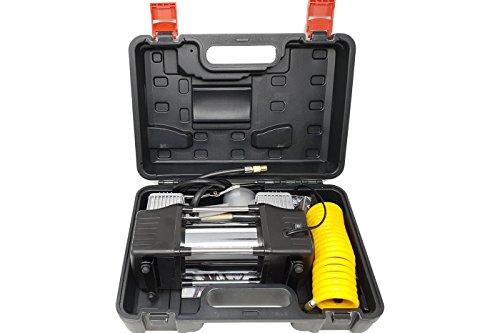 BES 24153 Mini Compressore Doppio Cilindro 12V 85L 150Psi per Auto Moto Camper
