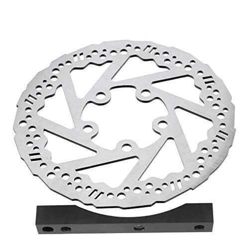 SALUTUYA Rotor de Freno Negro con Tornillos Adaptador de Disco de Freno...