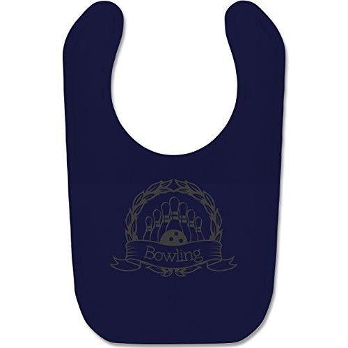 Shirtracer Sport Baby - Bowling Lorbeerkranz - Unisize - Navy Blau BZ12 - Baby Lätzchen Baumwolle