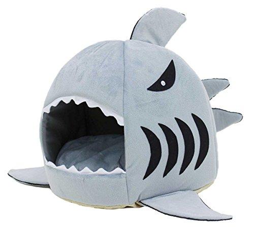 PetStyle ペットハウス サメ ドーム型 犬 猫 ベッド マット 鮫ハウス サメ型 Sサイズ
