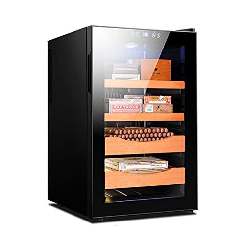 Cigar Humidors Humidor de Puros eléctrico de 70 l con función de Ajuste de Humedad Gabinete de Puros de Temperatura Constante refrigeración de Doble núcleo Puede Contener hasta 400 Puros
