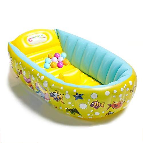 Baby-gelbe aufblasbare Badewanne, kann eine Dusche nehmen, um das Ertrinken zu verhindern
