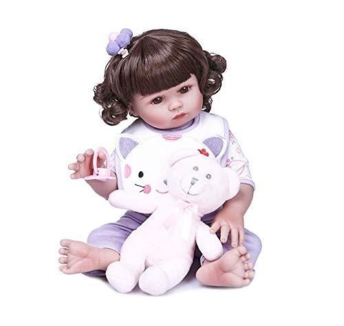 WYZQ 48CM Bella Real Touch Full Body Girl Gift Doll Reborn Babies Giocattolo da Bagno Bambole corrette e nutritive