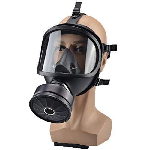 Gasmaske Militärische Filtrierende Vollmaske Sicherheit Aktivkohlefilter perfekte Passform Vollgesichtsschutz Pestizid Formaldehyd Toxisches Gas Dämpfe Partikel