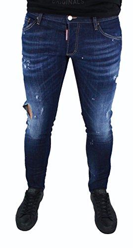 DSquared2 Clement Dsquared D2 Herren Jeans Blau