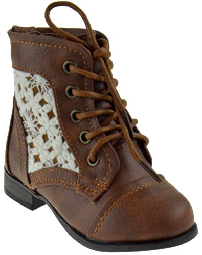 Baby Girl Combat Boots Size 4