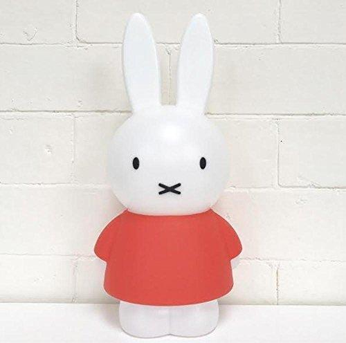 Miffy Charlie Friends Nachttisch Lampe, Kinderlampe - Lampe fürs Kinderzimmer - Hase - (LxBxH): 16 x 12,5 x 32 cm