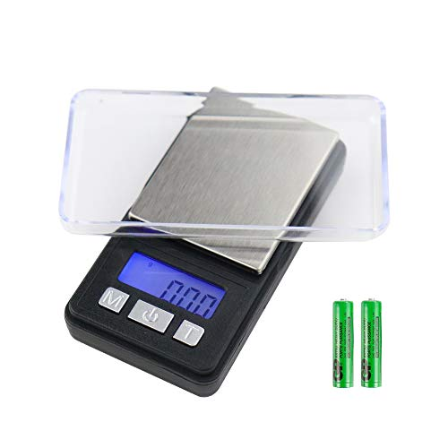 Digital Pocket Scale,200g/0.01g Mini Weed Scales,Digital Weight Grams Precision Small Jewelry Herb Powder Scale Gram and OZ,Electronic Smart Scale, 6 Units, LCD Backlit Display, Tare, Auto Off