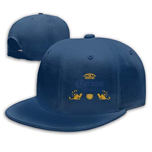Corona Extra Bier Unisex Caps Mode Flat Top Hoed Verstelbare Baseball Cap Geschikt voor Elk Seizoen