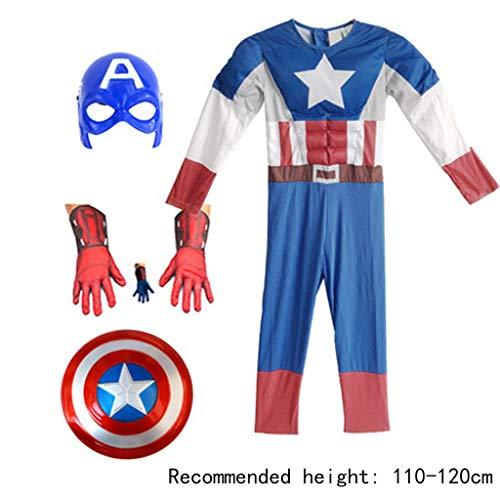YUNMO Equipo de diversión Día del niño Cosplay Disfraz de Iron Man Avengers Estados Unidos Ropa de Rendimiento Escudo de Superman