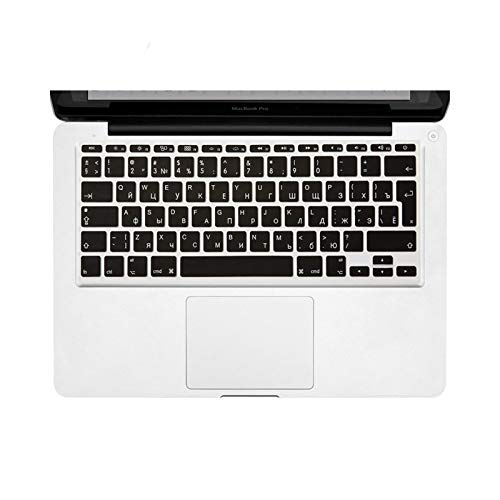 Waterproof Anti-Dust Russian Keyboard Cover for MacBook Pro Retina 12 13 15 16 inch Silicone Skin for Macbook Air 11 13 Russian/English Cyrillic protective case (Color : EU Russian H049)