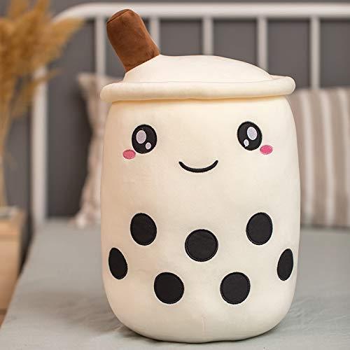 OELPAN Spielzeug 35 cm Niedliche Cartoon-Blasen Tee-Tasse geformte gefüllte Kissen Teddy-Spielwaren, die zurück gefüllte Kissen Kissen Boba-Lebensmittel-Spielzeug für Kinder