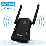 300Mbps WiFi Range Extender Signal Boosters for Home, 2.4G Internet Booster with Ethernet