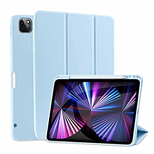 SIWENGDE Magnetische Hülle für iPad Pro 11 2021/2020, Robuste Stoßfeste Ganzkörper Schutzhülle für das iPad Pro 11 Zoll(3. Generation 2.Generation ), Auto Schlaf/Aufwach (Hellblau)