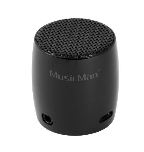 MusicMan BT-X7 NANO Bluetooth Soundstation - Mini Lautsprecher in schwarz
