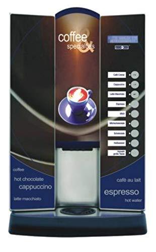 UNIMAT 21330 Coffeelino Prince 1300 - Macchina da caffè in acciaio INOX, colore: Nero