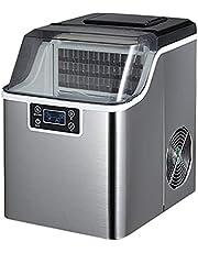 Bänkskivmaskin 1 gallon självrenande fyrkantig is 60 kg dagligen, bärbar ismaskin för bänkskivan, med LED-skärm Självrengöringsfunktion