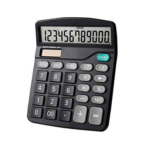 Festnight Calculadora de escritorio Calculadora de función estándar con pantalla LCD grande de 12 dígitos Energía solar y batería Doble para el hogar Oficina básica Negocios