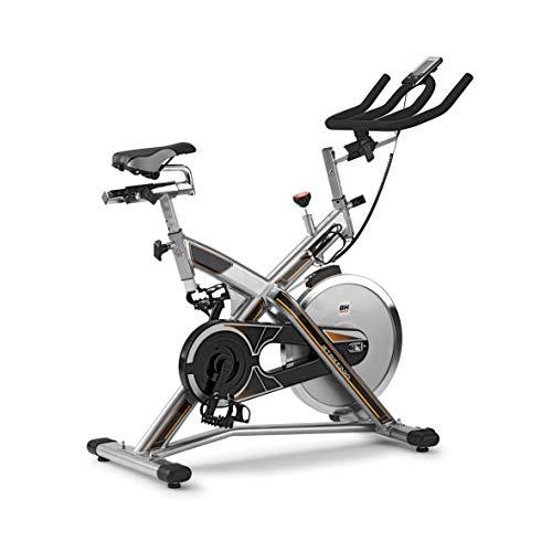 BH Fitness MKTJET Bike PRO H9162RFIT Indoor Bike Magnetica. Volano 22 kg. Freno a Frizione. Micro Regolazione di sellino e Manubrio