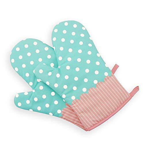 Nvfshreu Professional Ofenhandschuhe Backhandschuhe Süß Und Schön Topfhandschuhe Isolierte Grillhandschuhe 1 Einfacher Stil Paar Beige (Color : Grün, Size : Size)