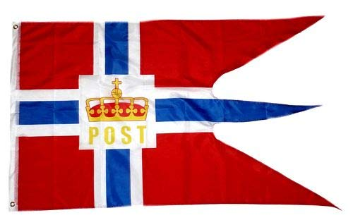 Fahne/Flagge Norwegen Post Hurtigruten 90 x 150 cm