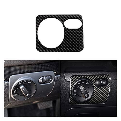 Iinger Ajuste para VW Golf 6 MK6 Coche Panel de control de fibra de carbono Centro de control de aire Vent de ventilación de aire Marco de cambio de marco Interruptor de cabeza de cenicero Cubierta de