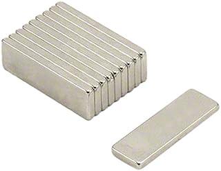 First4magnets F2582-N35-10 25 mm x 8 mm x 2 mm N35 neodymium magneten - 2,1 kg trekken (verpakking van 10), zilver, 25 x 1...