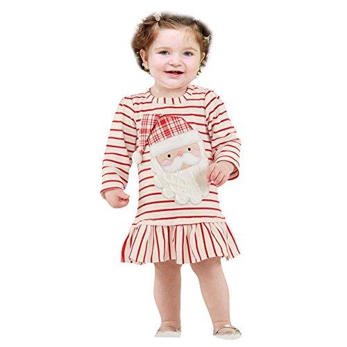Kootk Natale Neonata Bambini Costume Santa Claus Bambino Outfits Xmas Unisex Santa del Partito del Vestito Cappello + Cappotto Rosso Verde 3-24 Mesi