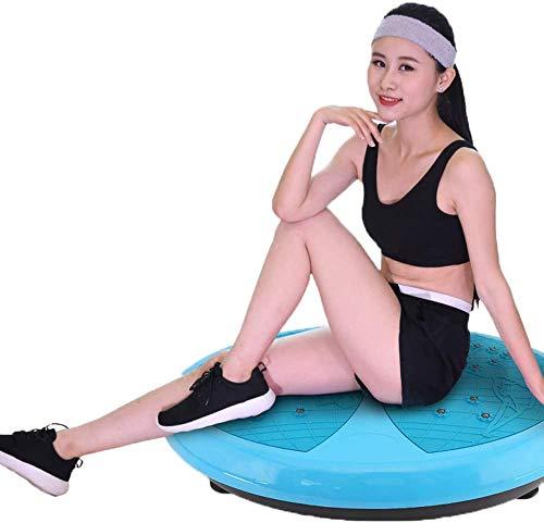 YZHM Übung Vibrationsplatte Max Tragfähigkeit 120 kg, Fat Burning Vibration Fitness Massage Fitness für Heim und Büro Übung, Runde
