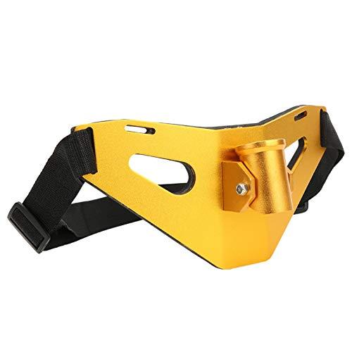Wosune Cinturón de Lucha de Pesca con Proceso de glaseado de Revestimiento EVA, Soporte de caña de Pescar Acolchado con cardán Dorado/Azul, para Pesca Salvaje(Golden)