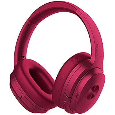 cowin SE7 Active Noise Cancelling Headphones Bluetooth Headphones Wireless Headphones Over Ear with Mic/Aptx, Comfortable Protein Earpads 50H Playtime, Foldable Headphones for Travel/Work (Purple) by cowin