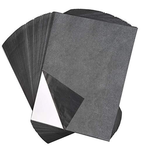 aoory Kohlepapier A4 Carbon Papier Graphitpapier 100 Blatt Für Holz Papier Segeltuch Und Prägestift Mit 5 Auswechselbaren Spitzen
