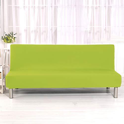 XJHKG Funda Sofa Cama, Universales Plegable Funda De Sofá Futón Couch Clic Clac Cubre Sofá Sin Brazos (VerdeAmarillo,Large)