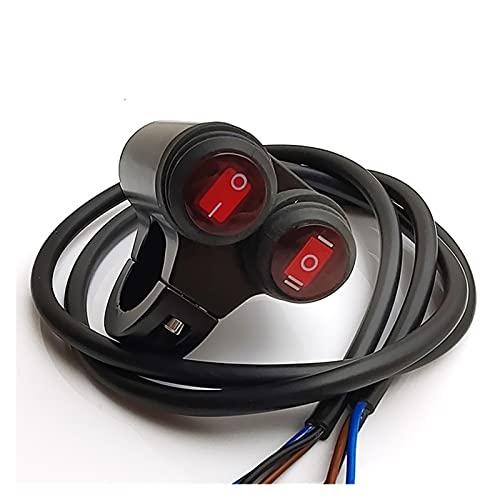 enenjie ENE Cambios de la Manillar de la aleación de Aluminio de 22 mm de la Motocicleta Interruptores de Faro a Prueba de Agua Spot Light ON/Off Switch 12V (Color : B)