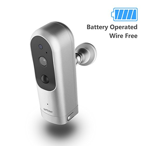 Wireless IP Camera  100% Wirefree Camera Rechargeable Battery Powered Indoor HD Wifi Wire-Free Security Camera with Two Way Audio and Night Vision
