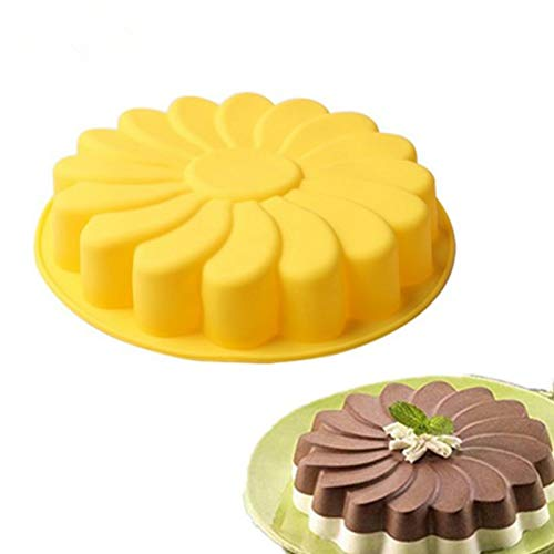 Lhbfcy Forma di Girasole Stampo per Tortiera Forma Cake Bread Pie Stampi con Forme Particolari 3D Forma di Girasole Torta Fondente Stampo per Biscotti, Cioccolato, Tortini, Cioccolato, Dolci(Giallo)
