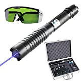 YIJIZE High Power Purple Blue Beam Pointer, Beam Pointer Real Life Adjustable Focus with Visible Light(USA 3~9 Days)