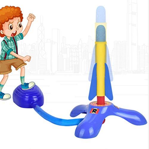 CLISPEED Lanzador de Cohetes de Juguete con 2 Cohetes Juego de Cohetes de Salto Niños Y Niñas:...
