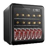 Weinkühlschrank, Mini kühlschrank, Getränkekühlschrank von 16 Flaschen 46L/ 4-16℃/ 43dB - 9