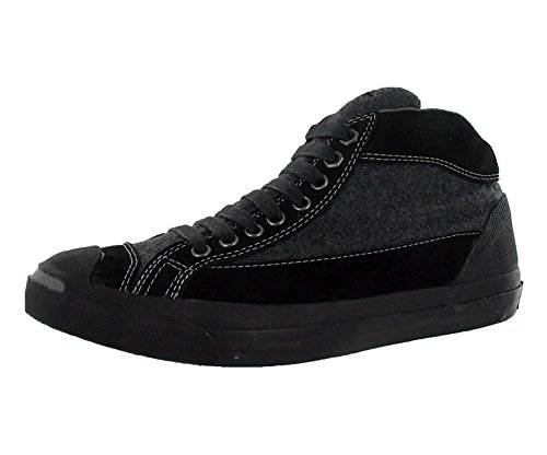 Converse Jack Purcell Limited Edition Collaboration Otr Mid Charcoal/Black Leather (6.5 Women/5 Men, Charcoal/Black)