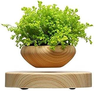 Costyle Mini LED Levitating 3.5 inch Air Bonsai Pot Magnetic Levitation Suspension Flower Floating Pot for Home Office Decor